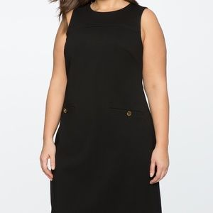 Eloquii 9-to-5 Sleeveless Stretch Work Dress